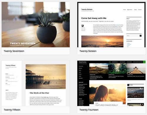 De WordPress-thema's van de laatste jaren.